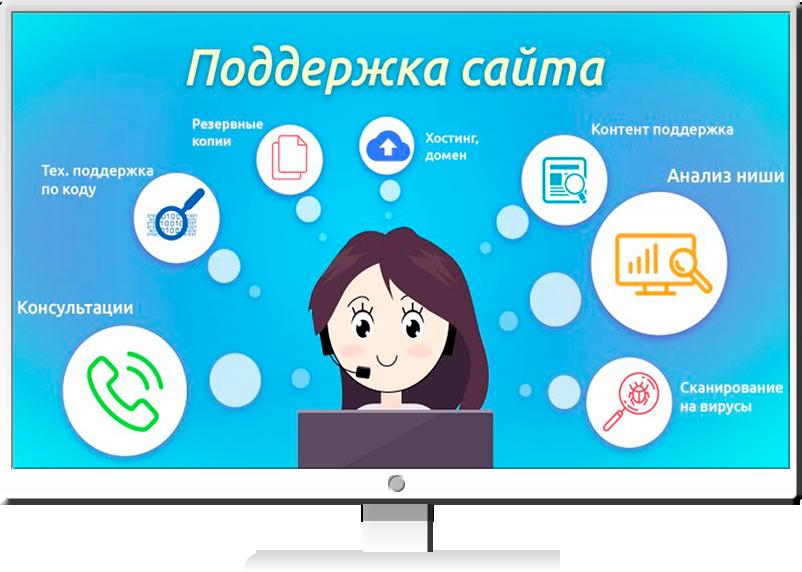 Продвижение и поддержка web сайта создание сайта бесплатно поддержка